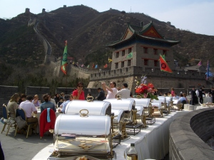 Exclusive lunch at the Great Wall, Beijing